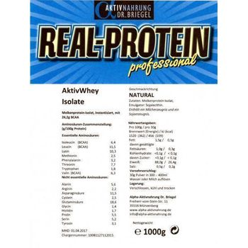 Real-Protein Aktiv Whey Isolate 1000g Apfelsaft