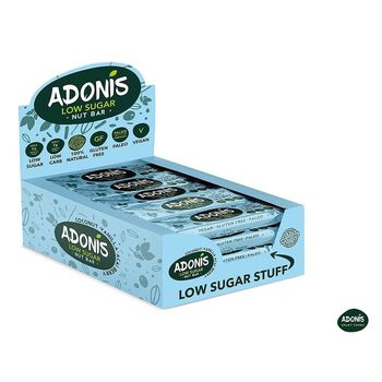 Adonis Low-Carb ketogene Nussriegel 16er Box Kokos...