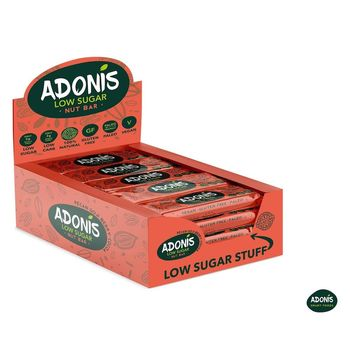 Adonis Low-Carb ketogene Nussriegel 16er Box Pekannuss...